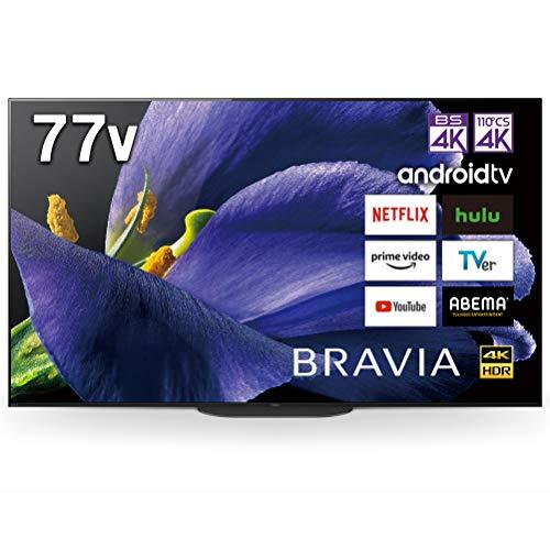 ソニー77V型有機ELテレビブラビア4Kチューナー内蔵AndroidTV機能搭載WorkswithAlexa対応2019年モデルKJ-77A9G