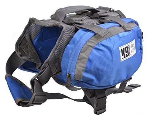 K9 achtervolging Trail-Blazer hond rugzak, Small, Blauw