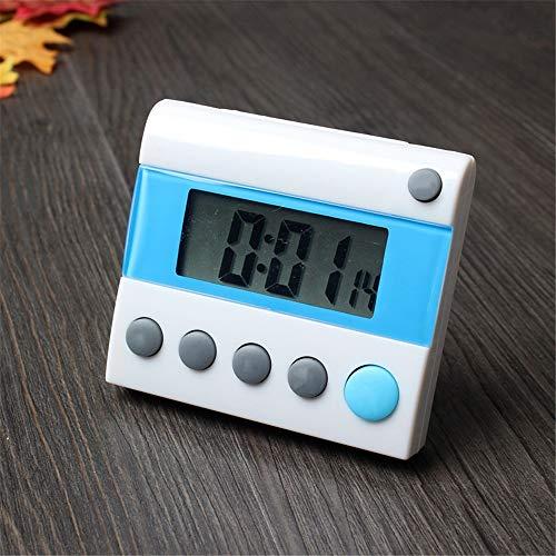 HUDEMR Temporizador de Cocina Portátil 24 Horas Temporizador de Cuenta atrás Digital Temporizador de Cocina Recordatorio Reloj Despertador Apto for niños de Maestros 2 IN 1 Temporizador y el Reloj