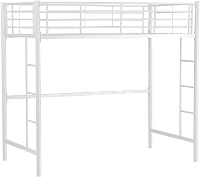 37a083b5e479 Twin Loft Bed Metal Bunk Ladder Beds Bedroom Dorm Boys Girls Teens Kids  Bedroom Supports 330
