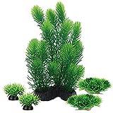 Smoothedo-Pets - Planta artificial de plástico para decoración de acuario, color verde y morado