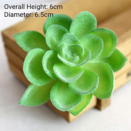 MHHDD Plantas suculentas Artificiales flocadas Verdes Decoración del jardín del hogar Arreglo Floral Accesorios de baño Artificial BaoLianHua