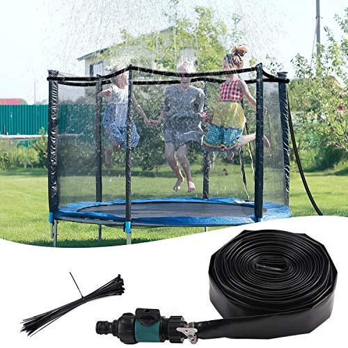 Becoyou Rociadores de trampolín para niños, 12M Aspersores para Verano al Aire Libre Trampolín Parque acuático Juegos de Agua para Jardin Juguetes Jugar para el Verano