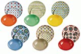 VILLA D'ESTE Bazar Juego de 18 Platos de Porcelana y Gres, Multicolor