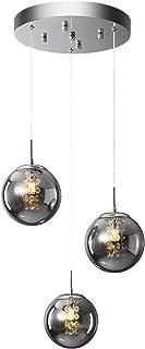 H.W.S Pendentif LumièRe En Verre Lampe Lustre Cristal Moderne Suspension Boule De Suspendue Salon Design CréAtif Hauteur R...