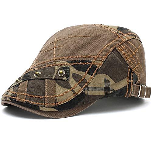 M MOACC Men Beret Hat Cotton Buckle Adjustable Newsboy Hats Cabbie Gatsby Cap,Camo Army #12941