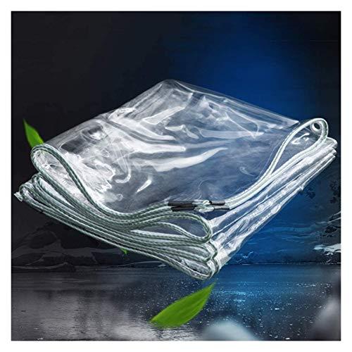 GFSD Lona Impermeable Transparente de PVC Espesar 0.5mm Cortina de Lluvia for Balcón Hoja de Lona con Ojales Dobladillo Reforzado Lonas de Doble Cara Jardín Patio Cobertura de Equipo