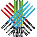 Honey Badger Brands Kids Inflatable Play Light Saber (12 Pack-4 Red, 4 Blue, 4 Green)