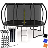 Recreational Trampolines 10 FT - Outdoor Trampoline with Enclosure Net for Kids with 4 Legs for More Stability & Ladder, Guaranteed Fun, ASTM Approval and Galvanized Anti-Rust Coating