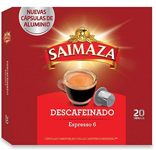 Saimaza Café Descafeinado - 20 Cápsulas de aluminio compat