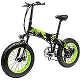Bicicleta Eléctrica de Montaña Plegable 1000W/500W con Ruedas Anchas 20 x 4 Pulgadas Removible Bateria de Litio 48V 10,4AH Aluminio Bicicleta de Playa Nieve Todo Terreno para Adultos [EU Stock]