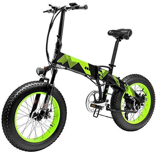 Bicicletta Elettrica Pieghevole da 20 Pollici con Ruote Larghe 4 ' Motore da 1000/500W Mountain Bike in Alluminio 48 V 10,4 Ah Batteria Litio Bici da Spiaggia Neve per Adulti [EU STOCK]