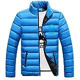Gumstyle Anime Tokyo Ghoul Kaneki Ken Men's Lightweight Down Jacket Winter Stand Collar Puffer Coat Outerwear Blue-2 L