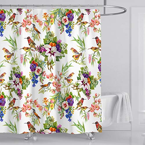 wtisan Floral Tropical Shower Curtain $10.80 (55% off with code)