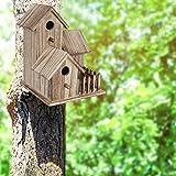 Casas para pájaros para Exteriores, pajareras de Madera de 3 Capas Decorativas para pájaros bebés proporcionan refugios Seguros para la cría de...
