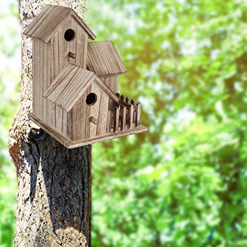 Casette per uccelli da esterno, casette per uccellini in legno a 3 strati decorative per uccellini Forniscono ripari sicuri Allevamento di rondini Pappagalli Altri animali selvatici Resistente alle in