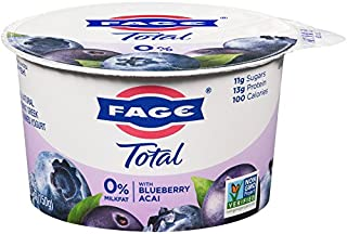 FAGE TOTAL Split Cup, 0% Greek Yogurt with Blueberry Acai, 5.3 oz