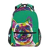 School Backpack French Bulldog Teens Girls Boys Schoolbag Travel Bag