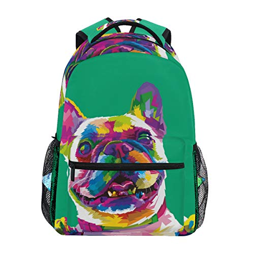 School Backpack French Bulldog Teens Girls Boys Schoolbag Travel Bag