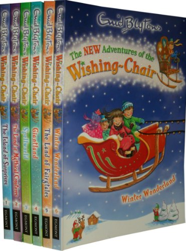 The New Adventures of the Wishing Chair Collection 6 Books Set Pack RRP : £ 29.94 (Winter Wonderland, The Land of Fairytales, Giantland, Spellworld, The Land of Mythical Creatures, The Island of Surprises) (Enid Blyton Collection) (New Adventures of th