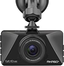 "AKASO Dash Cam, Car Dashboard Camera Recorder with 1080P Full HD 3"" LCD Screen, 170 Degree Wide Angle Lens, Loop Recording, Night Vision (C200)"