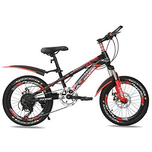 Axdwfd Infantiles Bicicletas Bicicleta para niños Ciclismo de niños y niñas de 18 Pulgadas, Adecuado para niños de 7 a 13 años, Rojo, Azul (Color : Red)