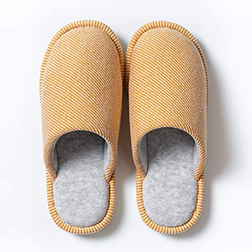政府フック再生的Luoerdaスリッパ 秋と冬用 室内履き 快適透気 暖かい 洗える 柔らかい 軽量 オシャレ 抗菌衛生 肌に優しい 滑り止め 100%綿 男女兼用