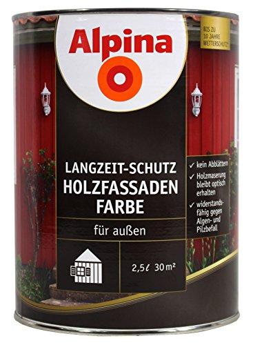 Alpina Holzfassadenfarbe 2,5 l - Moosgrün - Wetterschutzfarbe für Außen