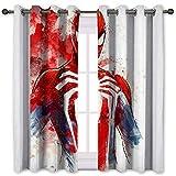 SSKJTC Cortinas con cancelación de ruido, diseño de Spiderman Fan Art Decorativas, 140 x 160 cm