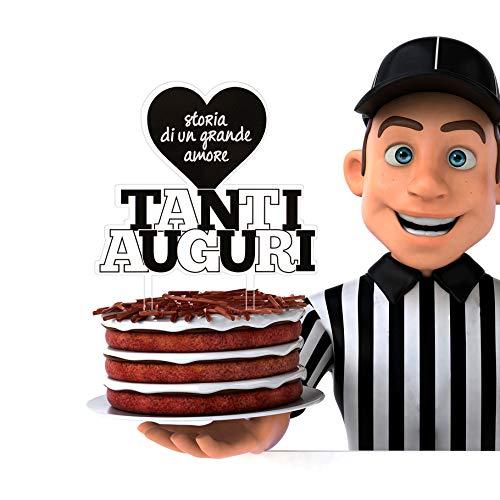 Decoración para tarta Juve | Decoración para tarta de cumpleaños y eventos | Ideal para tartas y dulces | Decoración y accesorios para fiestas de cumpleaños y eventos