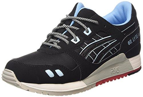 ASICS Unisex-Erwachsene Gel-Lyte Iii H637Y-9090-10H Sneakers, Schwarz (Black/Black H637Y 9090), 43.5 EU