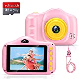 Voltenick Upgrade Kids Selfie Camera Birthday for Girls Toys 3.5Inch 1080P HD Children Digital Camera for Age 3 4 5 6 7 8 9 10 Year Old Girls Boys Toddler with 32GB SD Card (Pink)
