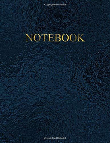 Notebook: Quaderno per appunti con 100 pagine bianche e numerate – Elegante colore Black Sea con scritte in Oro Antico – Misura A4 – Diario, Doddles, Schizzi, Disegni, Note, Memorie