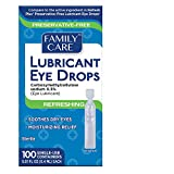Family Care Refreshing Lubricant Eye Drop Preservative-Free Single Use Vials 1 Pack (100 Count)