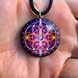 Sacred Geometry Orgone Pendant | Flower of Life | Orgonite Necklace | EMF | New Earth
