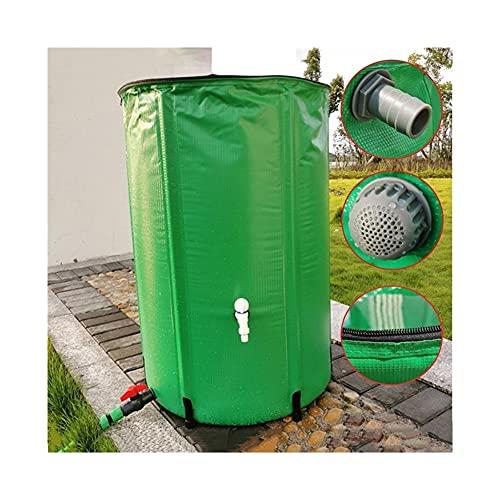 YJFENG Recipiente De Almacenamiento De Agua De PVC Plegable, Cubo De Lluvia Telescópico Portátil con Tapa, para Recolección De Agua De Lluvia, Barbacoa De Fiesta