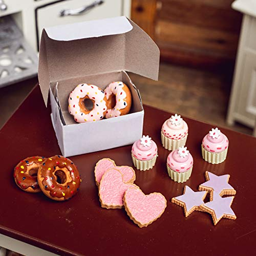 The Queen's Treasures 16pc Bake Set of Strawberry and Chocolate Sprinkle Doughnuts, Cookie & Mini Frosted Cupcakes with Bakery Box Designed to be Compatible with 18 inch American Girl Doll Accessories
