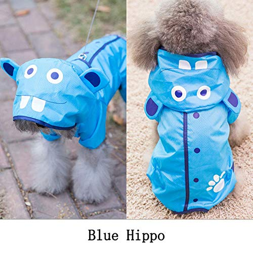 FHKGCD Leuke Cartoon Hond Regenjas Hoodies Puppy Huisdier Kat Waterdichte Kleding Hond Regenjassen Kostuums Regenjas Voor Kleine Honden
