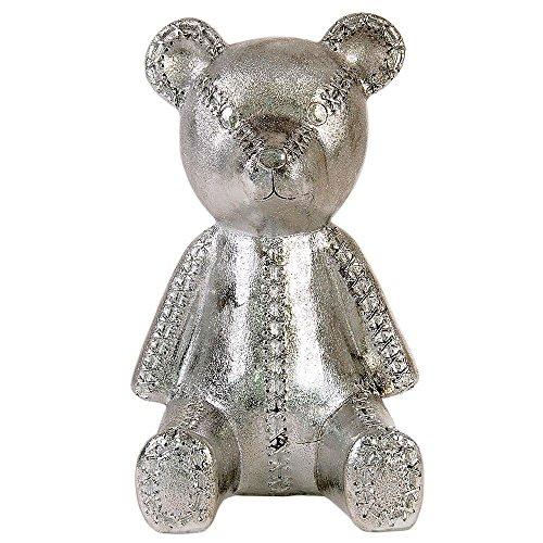 Hab & Gut -MB002- Hucha oso de peluche, osito de felpa sentado, cromo
