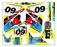 gzcfesbn MDJC5010-4カスタマイズされた3MオートバイデカールステッカーグラフィックグラフィックデカールキットスズキRM125 RM250 1996 1997 1997 ahgzc