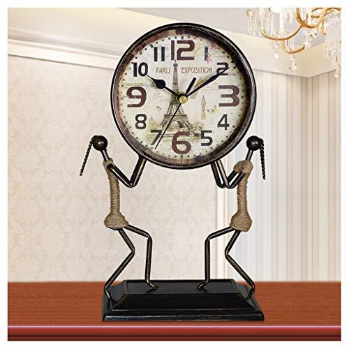 Reloj de Mesa Antiguo mudo hierro escritorio reloj de escrit