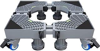 Universal Mobile Base For Washing Machine Fridge Dishwasher Shelf - Multifunctional Stand Movable Dolly - Adjustable Teles...