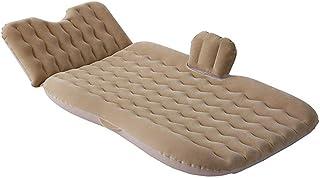 Colchón de aire Interiores y exteriores de aire portátil de coche cama inflable cama reunida Airbed Incorporados Almohada de viaje inflable cama Cama inflable ( Color : Beige , Size : 180x90cm )
