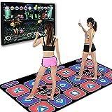 WSZYBAY ダブルダンスマットワイヤレスダンスプレイマット、耐久性のある音楽遊びマットダンサー毛布、ダンス革命パッド、ダンスマシンPCテレビインターフェース3Dランニングブランケットヨガゲーム機のための大人の子供たちのためのゲーム機械 (Color : A)