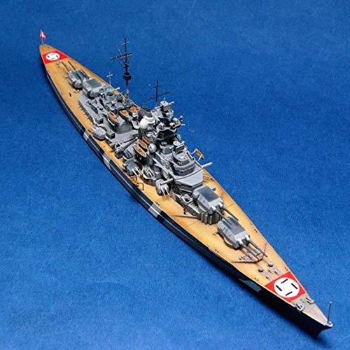 LYXin Modelo de Barco 1/700 Escala de la Segunda Guerra Mundial Alemania Acorazado de la Armada Acorazado Bismarck Battleship Modelo de Barco Manual del Barco Modelo de ensamblaje