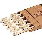 vivago biodegradable eco-friendly natural bamboo toothbrushes bpa free soft bristles, compostable,