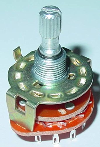 Conmutador de etapas, interruptores rotativos paso 4 x 3 UM, 4 posiciones de conmutación, 3 contactos S33