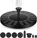 Solar Fountain Pump, Solar Water Fountain 1.5W Circle Garden Solar Water Feature Watering Kit Pump with 6 Attachments Solar Powered Fountain Pump for Bird Bath, Small Pond, Swimming Pool, Garden