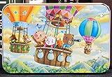 FJX 60 juguetes educativos estaño rompecabezas de madera de dibujos animados avión imposición de la primera infancia nursery 22.5 * 14 * 0.3cm Granja / 20