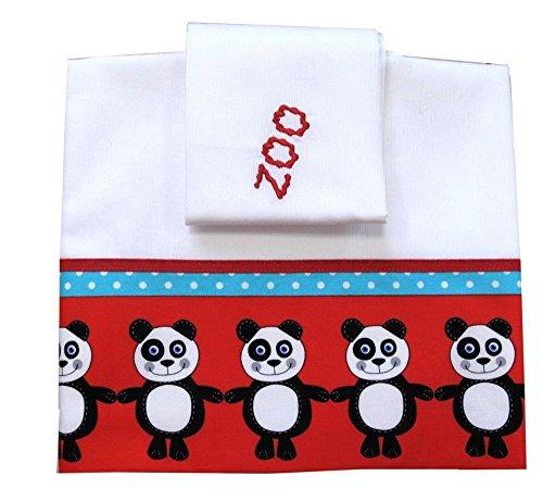 Zigozago - Ensemble set complet 3 pieces parure de petit lit literie pour bébé 90 x 75 cm - PANDA